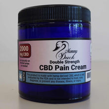 Load image into Gallery viewer, Momma Duck CBD Pain Cream 4oz 2000 Jar
