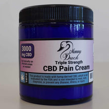Load image into Gallery viewer, Momma Duck CBD Pain Cream 4oz 3000 Jar