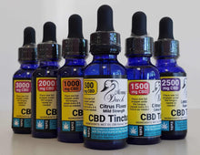 Load image into Gallery viewer, Momma Duck CBD Oil Tinctures Lemon Collection
