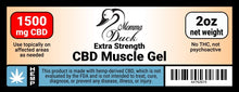 Load image into Gallery viewer, Momma Duck CBD Muscle Gel 1500 Label