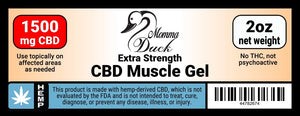 Momma Duck CBD Muscle Gel 1500 Label