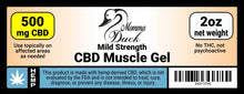 Load image into Gallery viewer, Momma Duck CBD Muscle Gel 500 Label