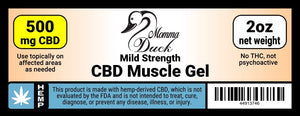 Momma Duck CBD Muscle Gel 500 Label