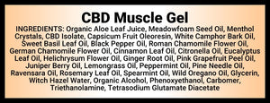 Momma Duck CBD Muscle Gel Ingredients