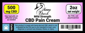 Momma Duck CBD Pain Cream 500 2oz Label