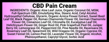 Load image into Gallery viewer, Momma Duck CBD Pain Cream Ingredients