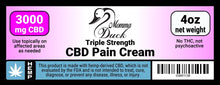 Load image into Gallery viewer, Momma Duck CBD Pain Cream 3000 4oz Label