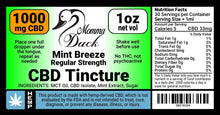 Load image into Gallery viewer, Momma Duck CBD Oil Tinctures 1000 Mint Label