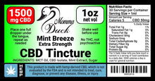 Load image into Gallery viewer, Momma Duck CBD Oil Tinctures 1500 Mint Label