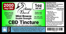Load image into Gallery viewer, Momma Duck CBD Oil Tinctures 2000 Mint Label