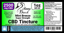 Load image into Gallery viewer, Momma Duck CBD Oil Tinctures 2500 Mint Label