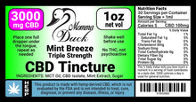 Load image into Gallery viewer, Momma Duck CBD Oil Tinctures 3000 Mint Label
