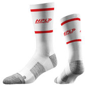 HPLT Runners Sport Socks - White/Red