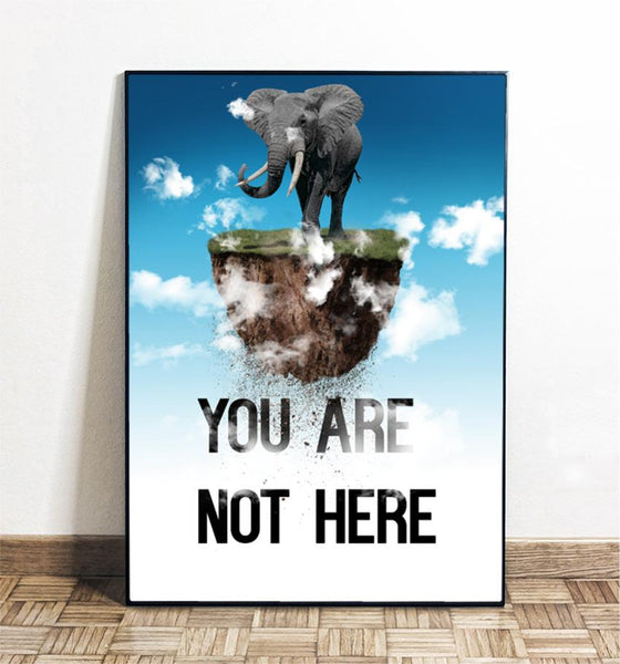 Poster You Are Not There en Meryac