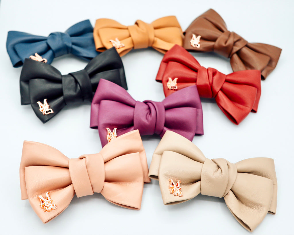 Vegan Leather Bows