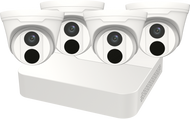 SECURITY CAMERA KIT: 4X TURRET CAMERAS + 8-CHANNEL NVR - 4MP