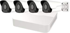 SECURITY CAMERA KIT: 4X BULLET CAMERAS + 8-CHANNEL NVR - 4MP