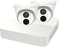 SECURITY CAMERA KIT: 2X TURRET CAMERAS + 4-CHANNEL NVR - 4MP