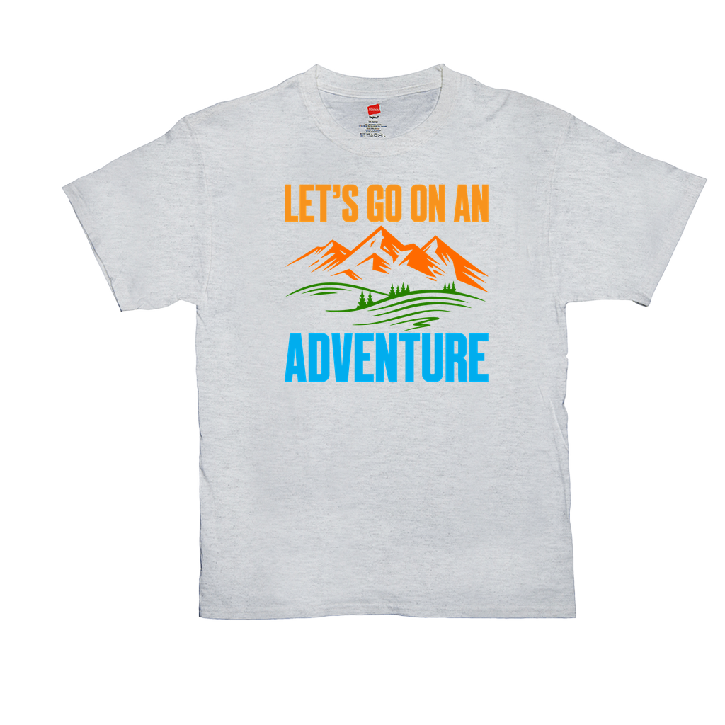 "Unisex T-Shirts - GN - ""Let's go on an adventure"" - camping, hiking, outdoors, nature"
