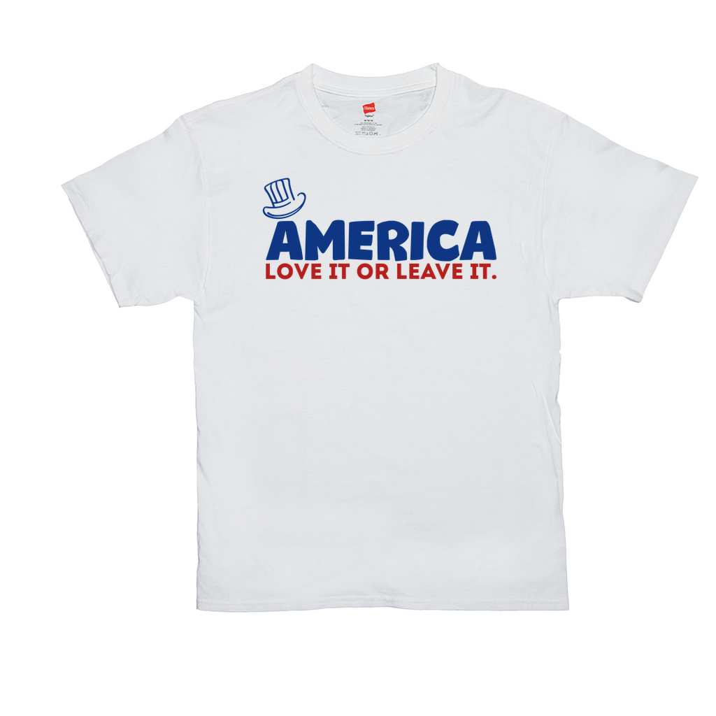 America, Love It or Leave It - Unisex T-Shirts - GN - patriotic, inspirational