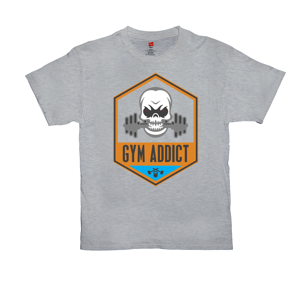 Gym Addict - Unisex T-Shirts - GN - fitness, workout, weightlifting, cross fit, exercise, bodybuilding