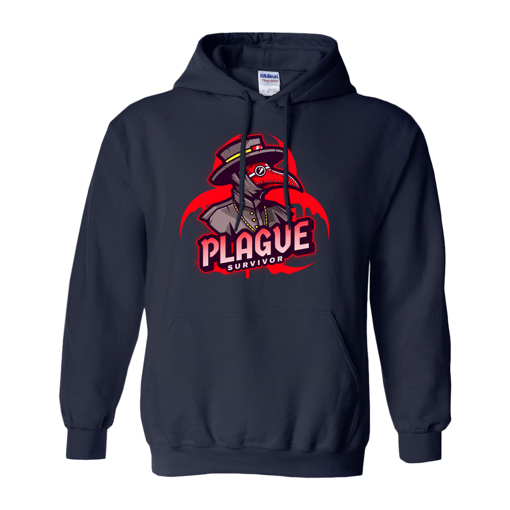 Plague Survivor - Hoodies (No-Zip/Pullover) - GN - funny t-shirts, funny sayings, funny gifts, 2020, Halloween
