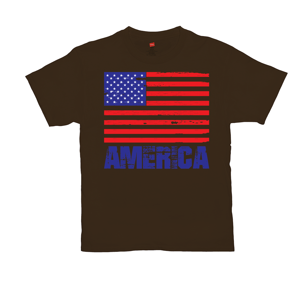 "Unisex T-Shirts - GN - ""America"" - patriotic, inspirational, vote, politics, American flag, USA"