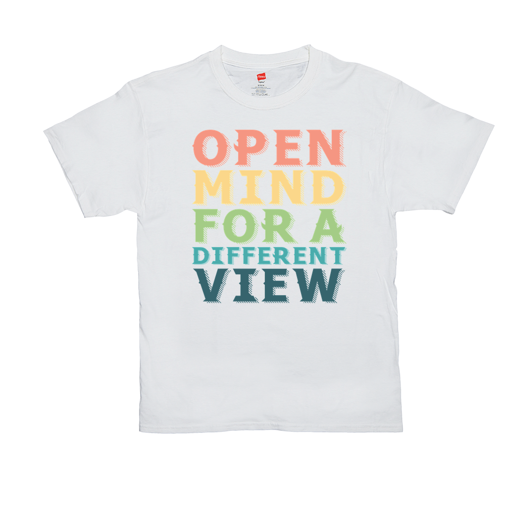 "Unisex T-Shirts - GN - ""Open mind for a different view"" - equality, acceptance, LGBTQ, civil rights"