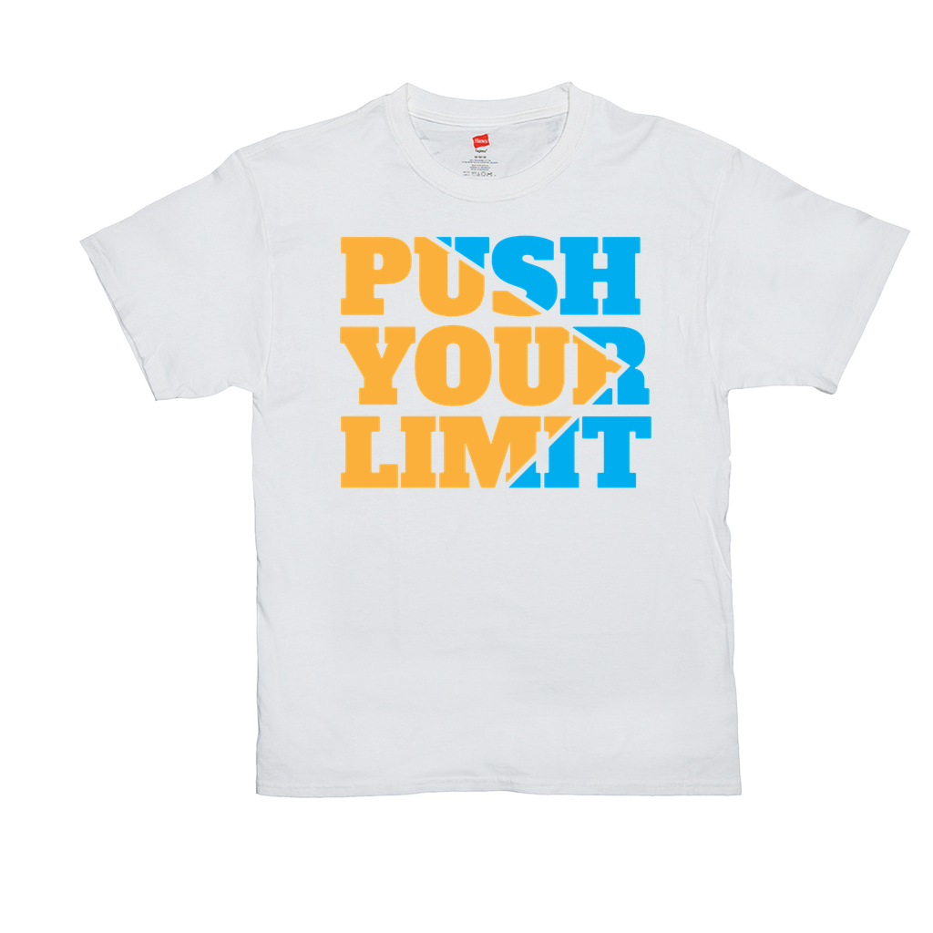 "Unisex T-Shirts - GN  - ""Push Your Limit"" - motivation, fitness, exercise, weightlifting, bodybuilding, workout, cross fit"