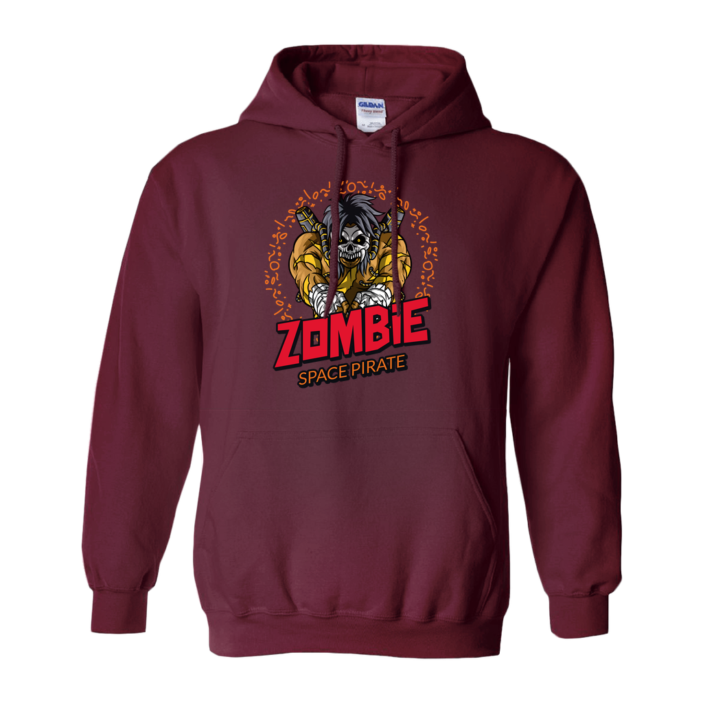 Zombie Space Pirate - Hoodies (No-Zip/Pullover) - GN - funny t-shirts, funny sayings, funny gifts, 2020, Halloween, zombies