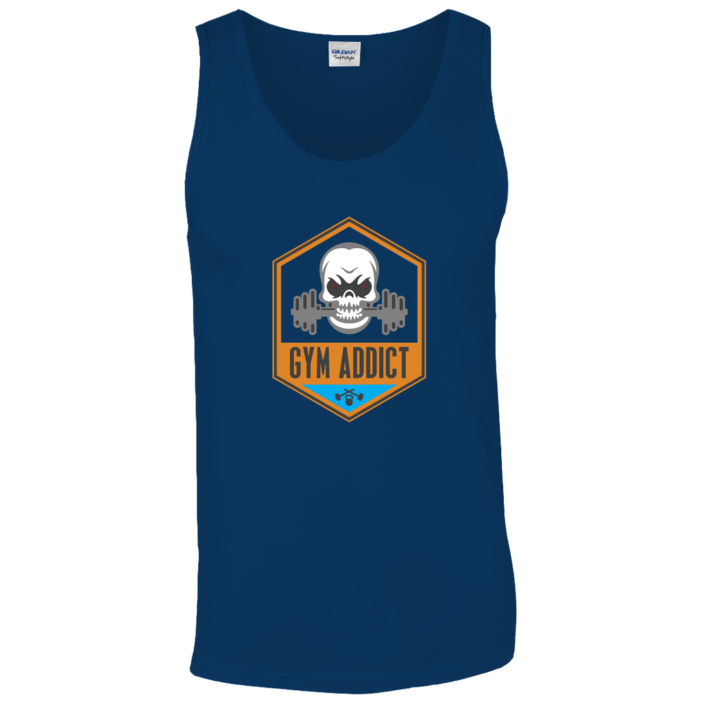 "Tank Tops - GN - ""Gym Addict"" - fitness, cross fit, workout, weightlifting, bodybuilding, exercise"