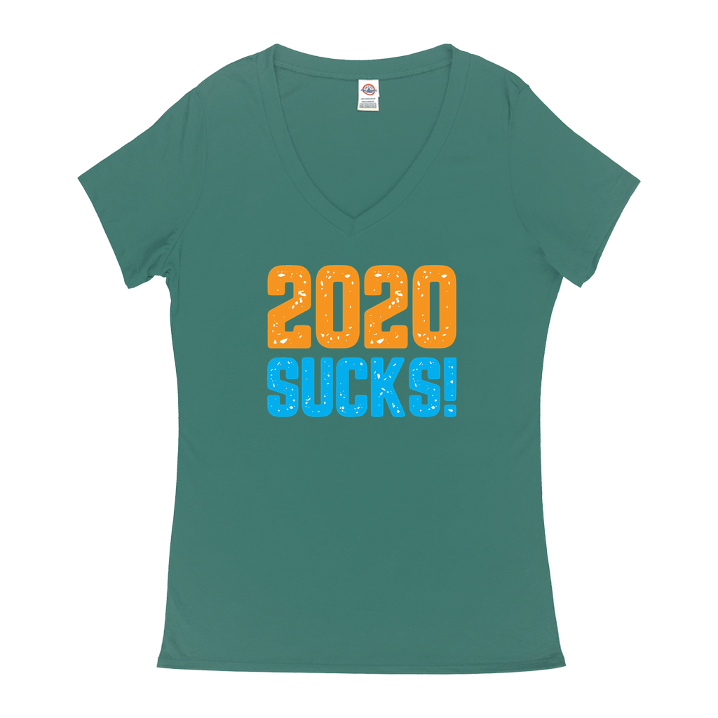 "V-Necks T-Shirts - GN - ""2020 Sucks"" - funny t-shirts, funny sayings, funny gifts, 2020, humor"