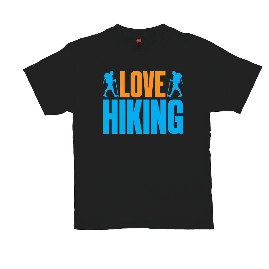 "Unisex T-Shirts - GN - ""Love Hiking"" - camping, hiking, outdoors, nature"