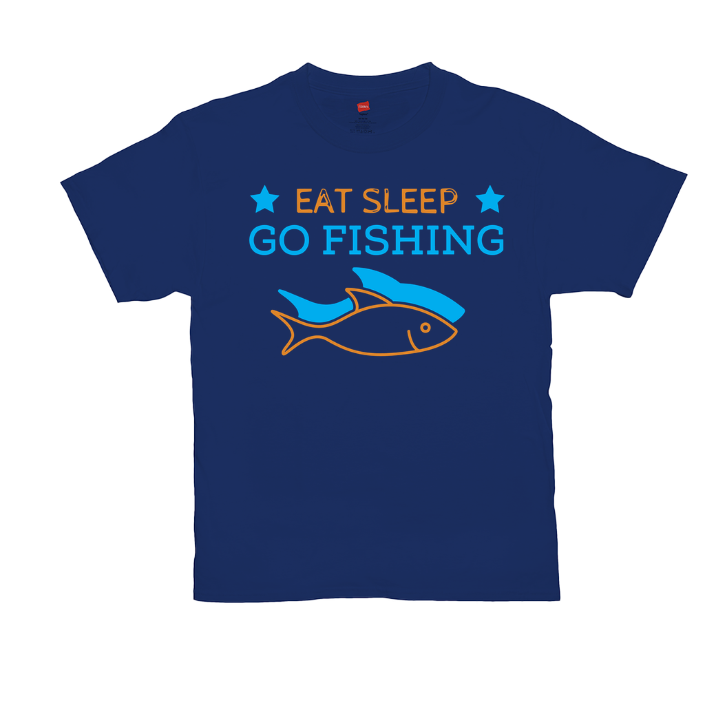 "Unisex T-Shirts - GN - ""Eat Sleep Go Fishing"" - fishing, funny quotes, funny sayings, funny t-shirts"