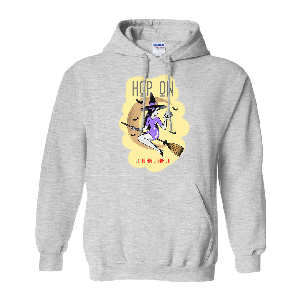 Hop on for the ride of your life - Hoodies (No-Zip/Pullover) - GN - funny t-shirts, funny sayings, funny gifts, 2020, Halloween
