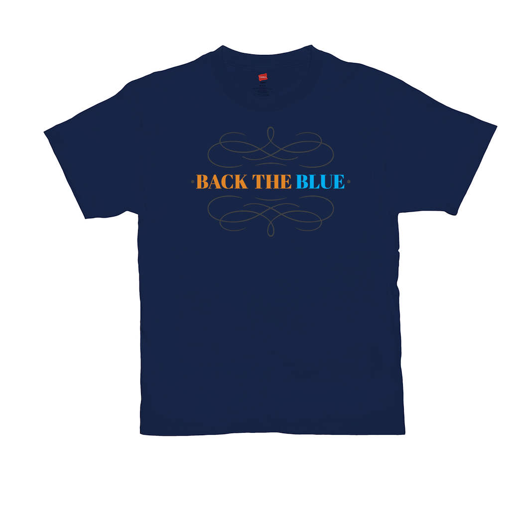 Back the Blue - Unisex T-Shirts - GN - 03, blue lives matter, patriotic, inspirational, Police