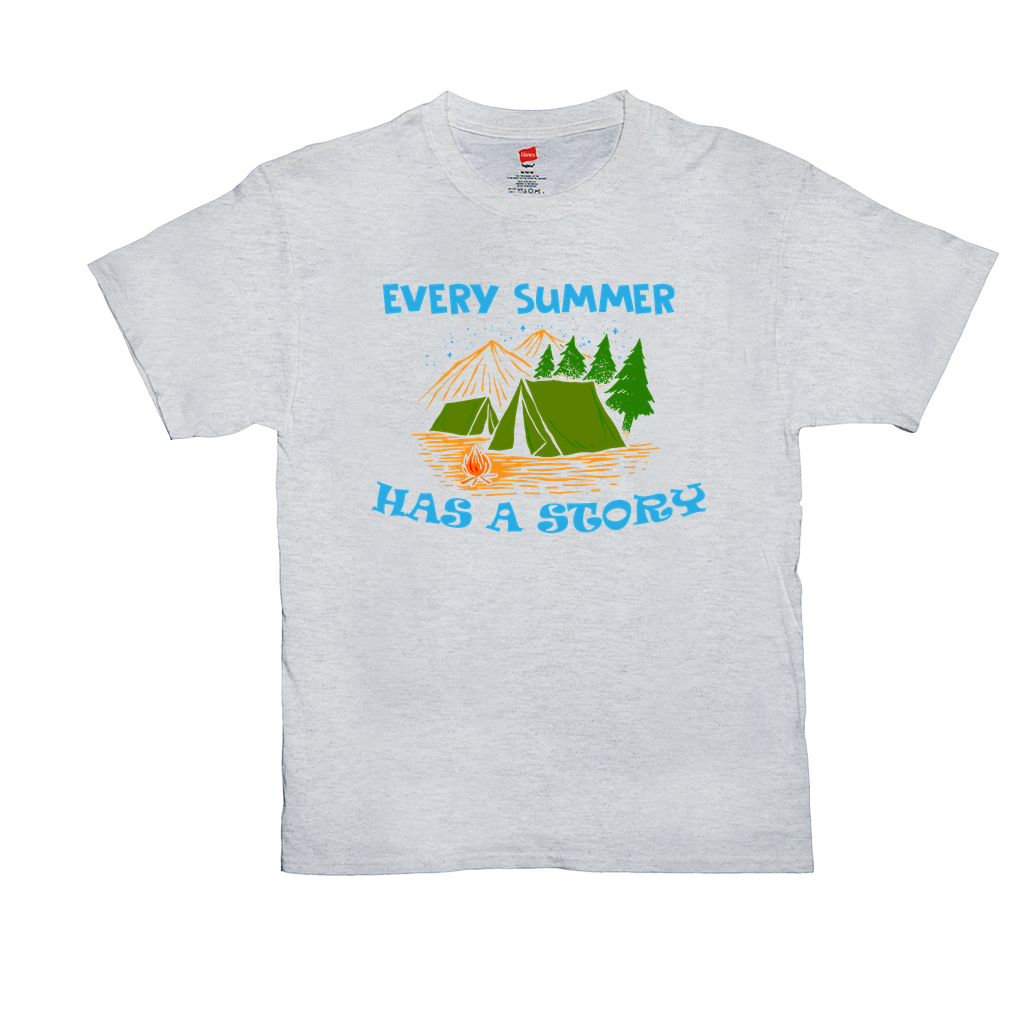 Every summer has a story - Unisex T-Shirts - GN - camping, hiking, outdoors, nature