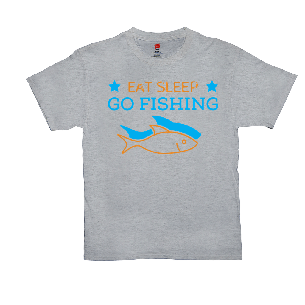 Eat Sleep Go Fishing - Unisex T-Shirts - GN - fishing, funny quotes, funny sayings, funny t-shirts