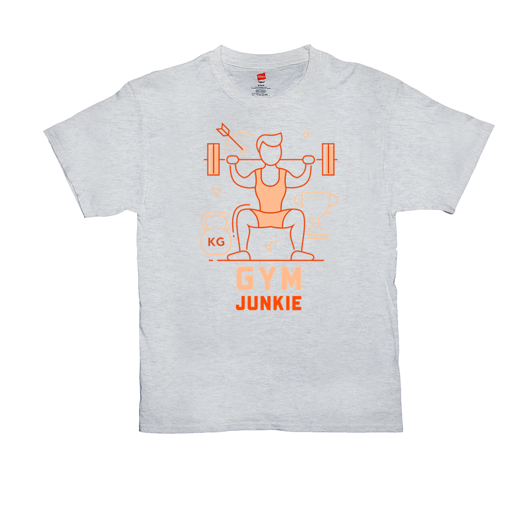 Gym Junkie - Unisex T-Shirts - GN  - fitness, exercise, weightlifting, bodybuilding, workout, cross fit