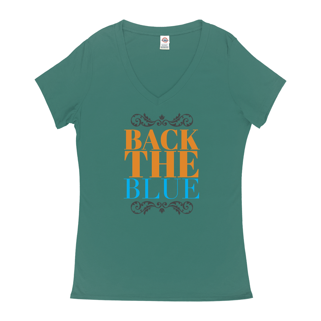 Back the Blue - V-Neck T-Shirts - GN - 02, blue lives matter, patriotic, inspirational, Police