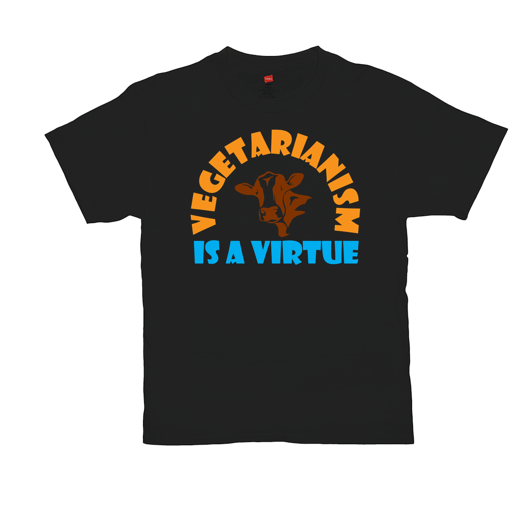 Vegetarianism is a virtue - Unisex T-Shirts - GN - vegetarian, vegetarianism, funny sayings, funny quotes, funny gifts