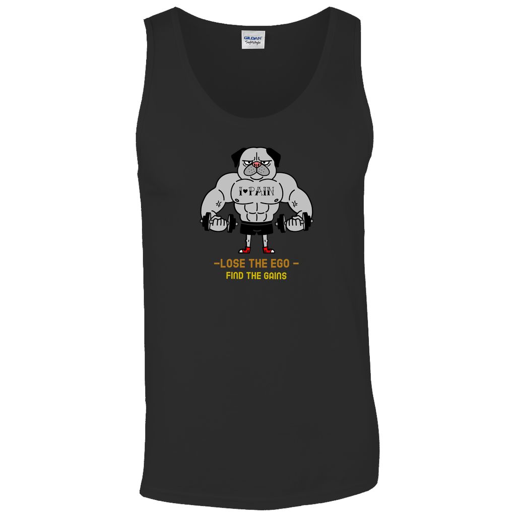 Lose the ego, find the gains - Tank Tops - GN - fitness, workout, exercise, weightlifting, bodybuilding, cross fit