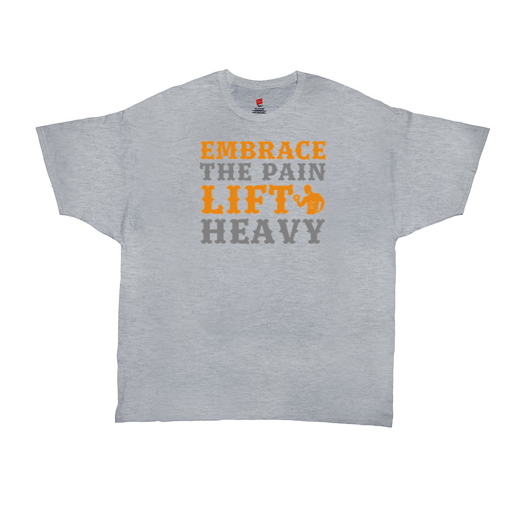 Embrace the pain lift heavy - Unisex T-Shirts - GN - funny t-shirts, funny quotes, funny sayings, fitness, exercise, cross fit