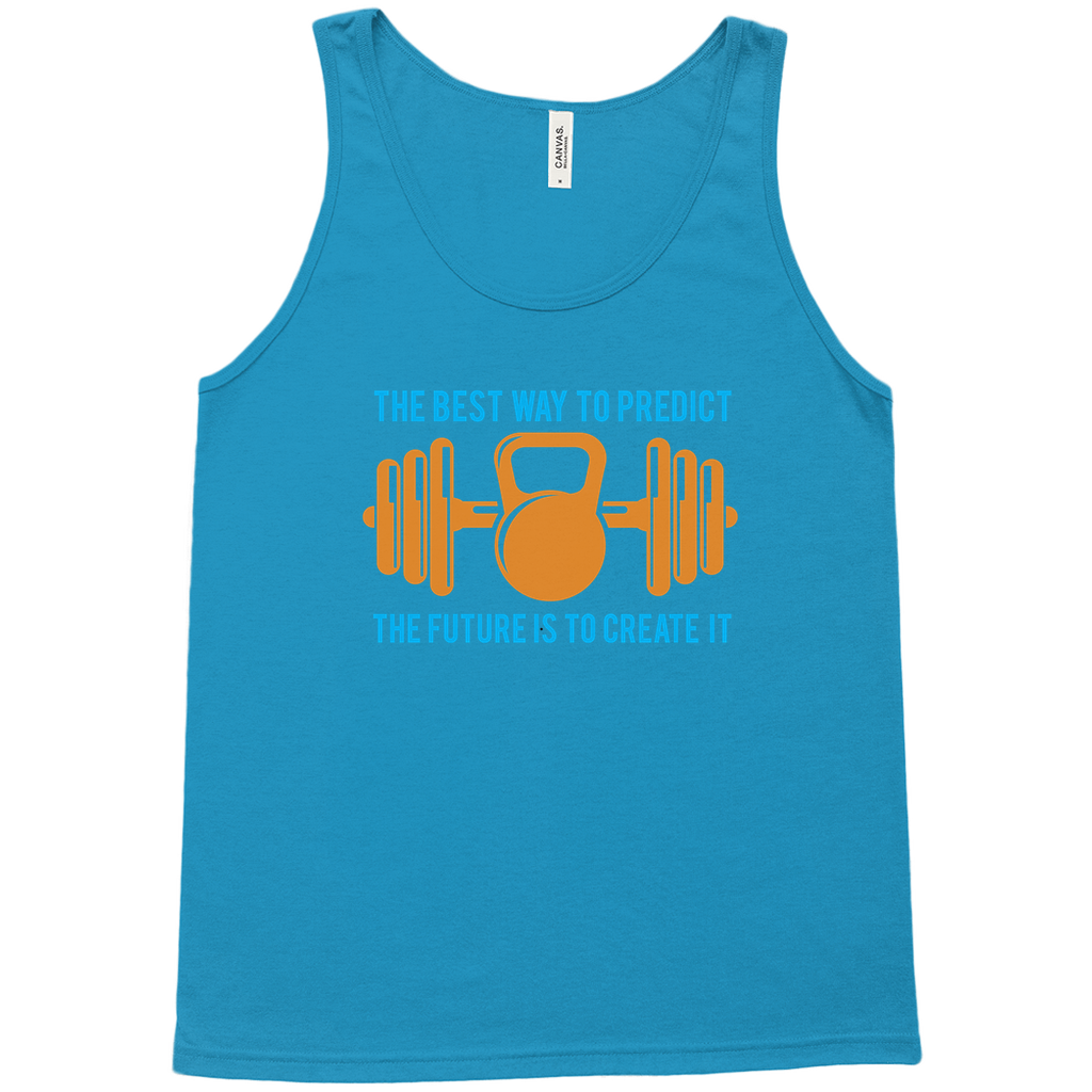 The best way to predict the future is to create it - Tank Tops - GN - fitness, workout, exercise, weightlifting, bodybuilding, cross fit