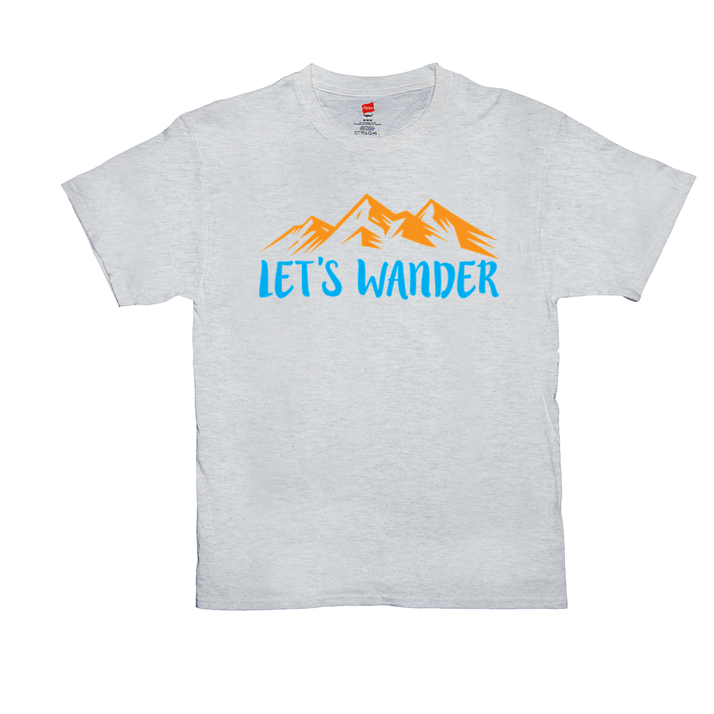 Let's Wander - Unisex T-Shirts - GN - hiking, camping, outdoors, nature