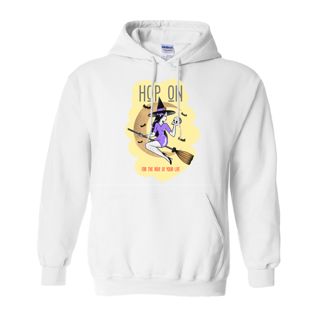 "Hoodies (No-Zip/Pullover) - GN - ""Hop on for the ride of your life"" - funny t-shirts, funny sayings, funny gifts, 2020, Halloween"