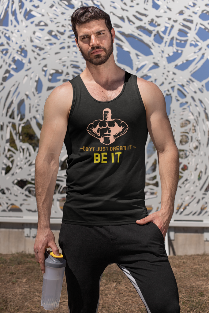 Don't just dream it, be it - Tank Tops - GN - fitness, workout, exercise, weightlifting, bodybuilding, cross fit