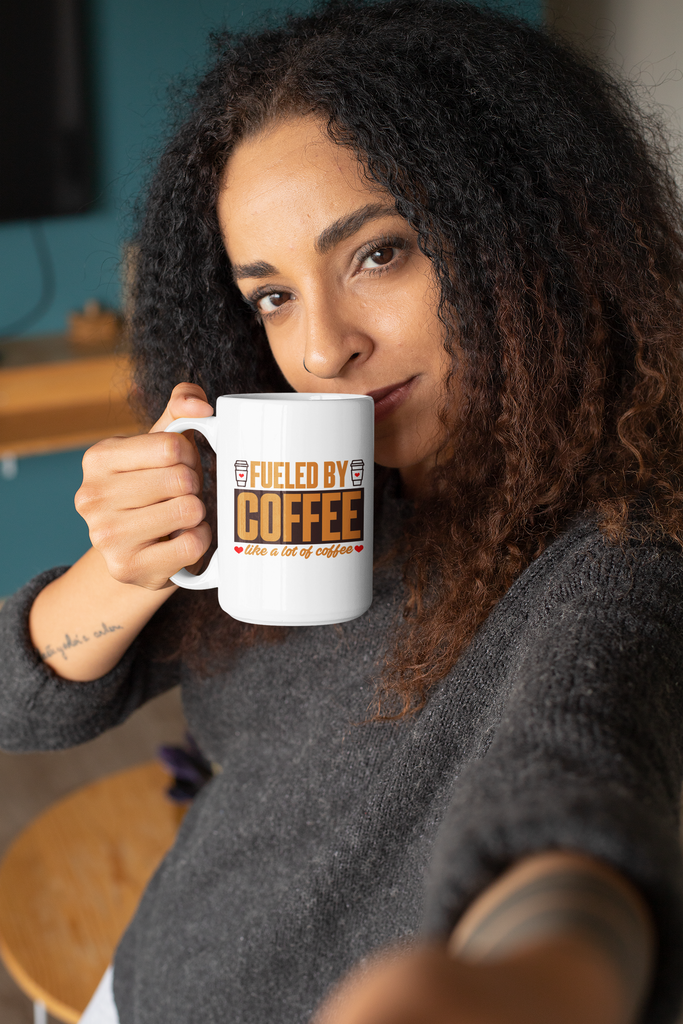 Fueled by coffee...like a lot of coffee - 15 oz. Mug - GN