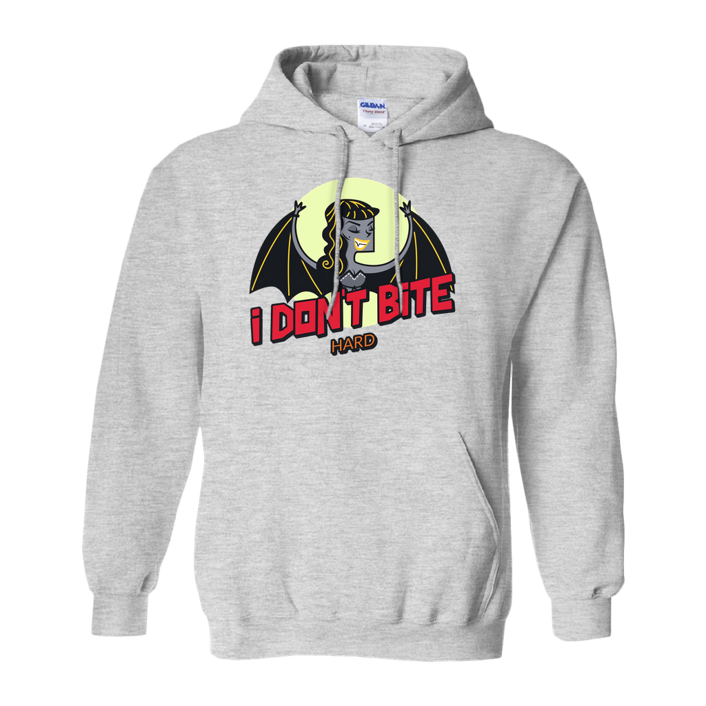 I don't bite...hard - Hoodies (No-Zip/Pullover) - GN - funny t-shirts, funny sayings, funny gifts, 2020, Halloween
