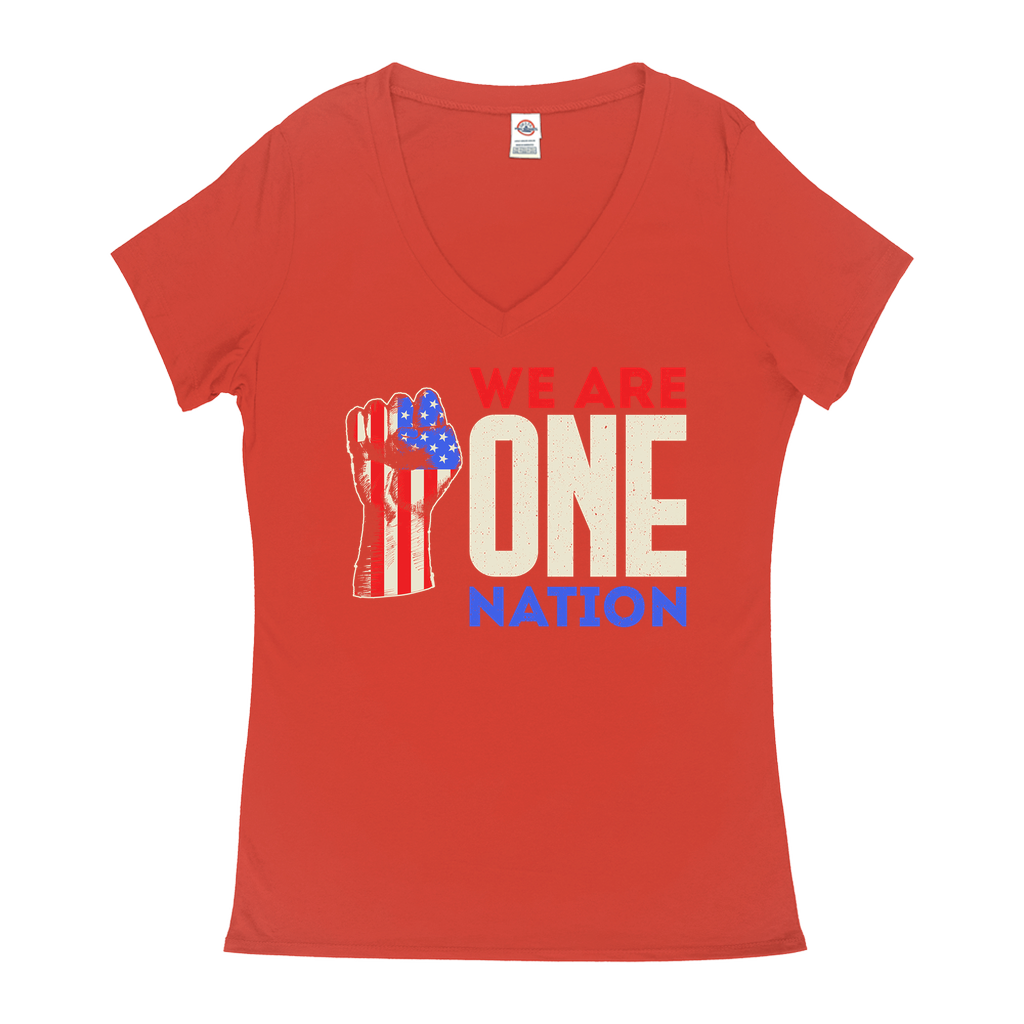 We Are One Nation - V-Neck T-Shirts - GN - patriotic, inspirational
